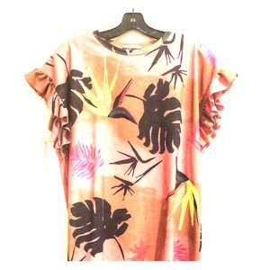 Zara tropical palm leaf dress